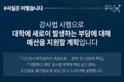 강사법 시행으로 대학 예산지원 계획