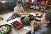 영광모싯잎송편 체험하며 한일 음식문화 교류의 장 마련